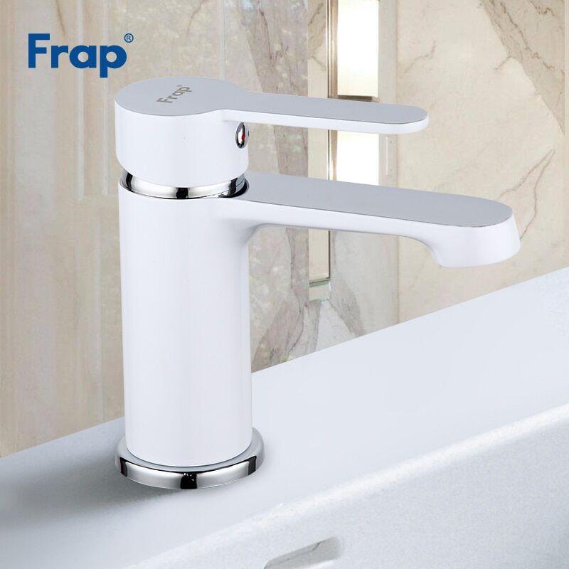 AliExpress Frap robinet de lavabo moderne blanc salle de bains, robinet d'évier en laiton, robinets de lavage