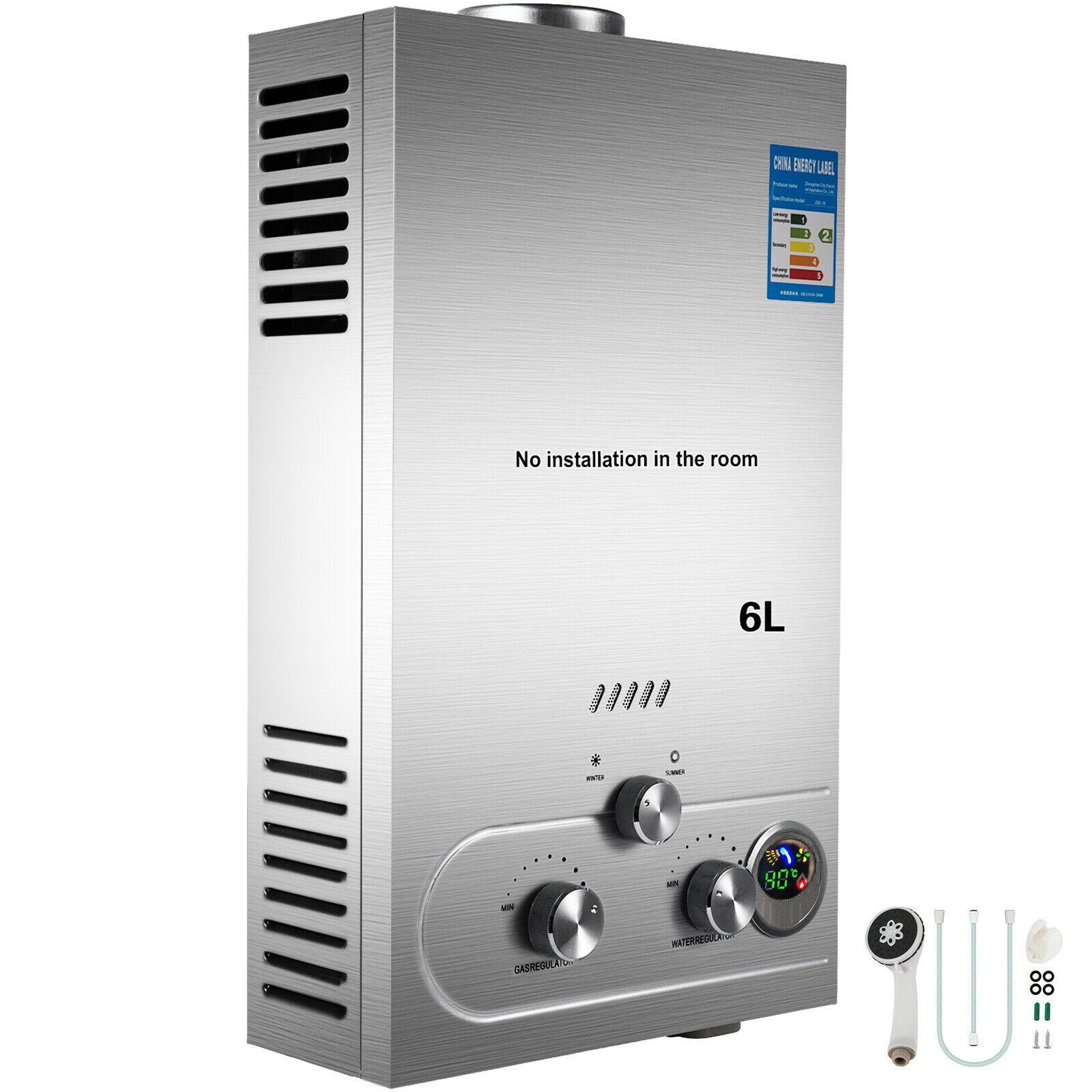 tankless Chauffe-eau sans réservoir 6L au gaz Propane, à commande numérique, à la demande