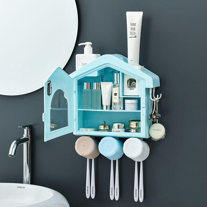 AliExpress Distributeur automatique de dentifrice étanche à la poussière, stockage de produits cosmétiques,