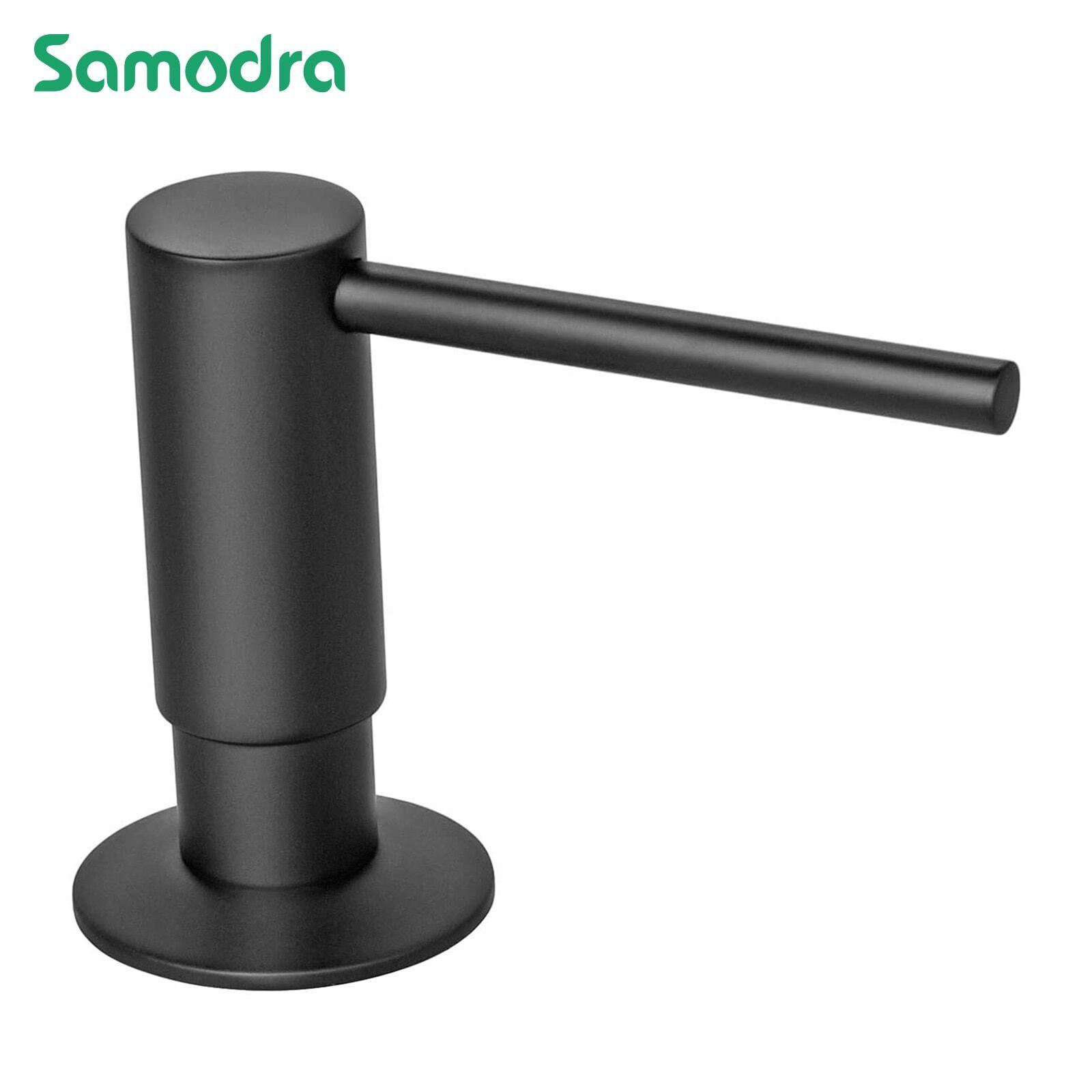 AliExpress Samodra – distributeurs de savon liquide noir, tête de pompe en laiton avec bouteille PE de 500ML,