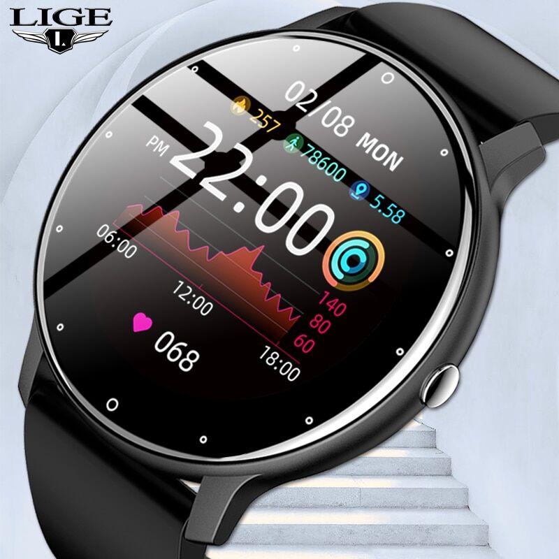 AliExpress LIGE – montre connectée pour hommes, moniteur d'activité physique, de fréquence cardiaque, de
