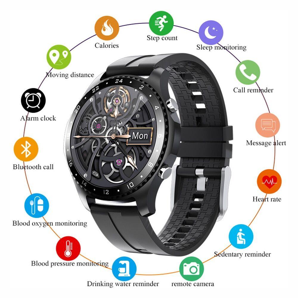 AliExpress Montre connectée de luxe pour hommes, Bluetooth, appel, Sport, Fitness, fréquence cardiaque, pour