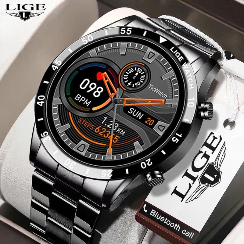 AliExpress LIGE – montre connectée de luxe pour hommes, moniteur d'activité physique, de fréquence cardiaque,