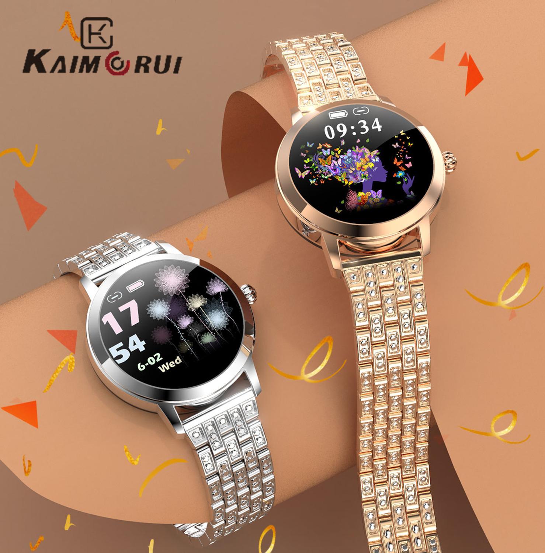 AliExpress montre connectee femme luxe, IP68 étanche fréquence cardiaque BP Message rappel, LW10 Smartwatch