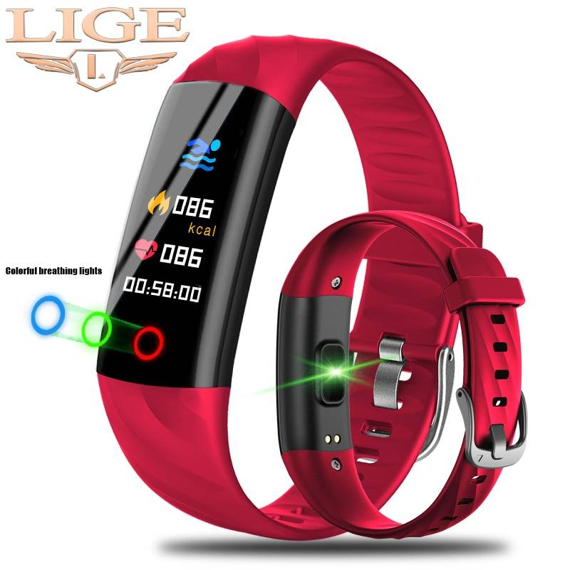 AliExpress LIGE montre intelligente femmes IP68 étanche Sport Bracelet intelligent Fitness Tracker tension