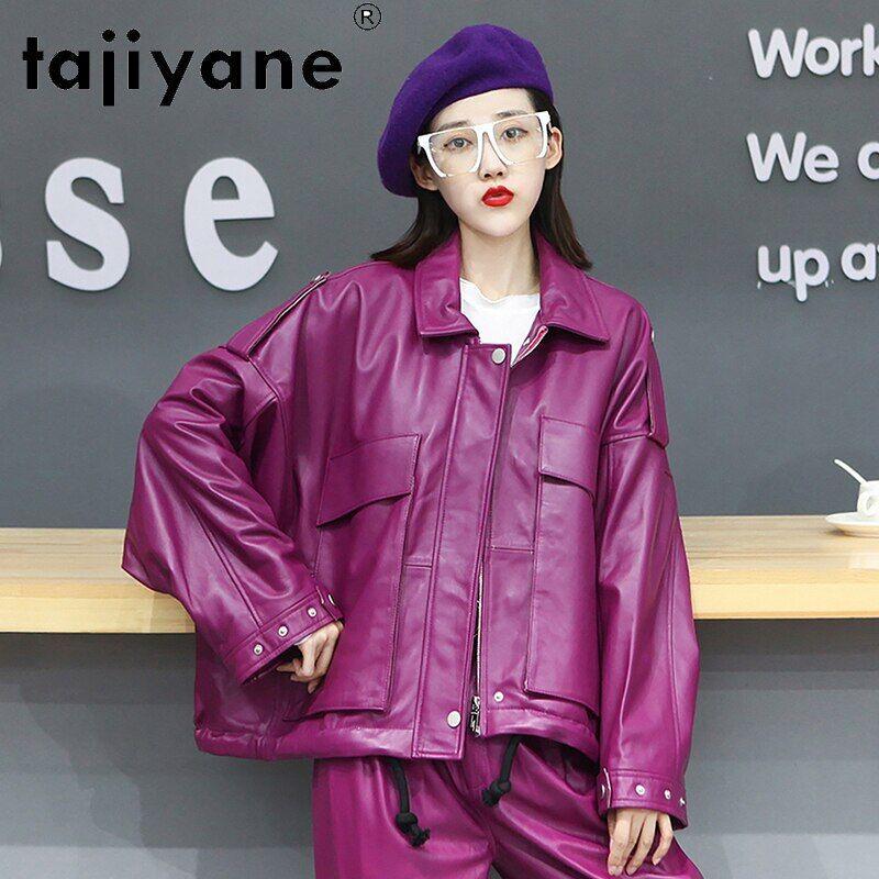 AliExpress Takiyane – veste surdimensionnée en cuir véritable de mouton pour femme, vêtement de haute qualité,