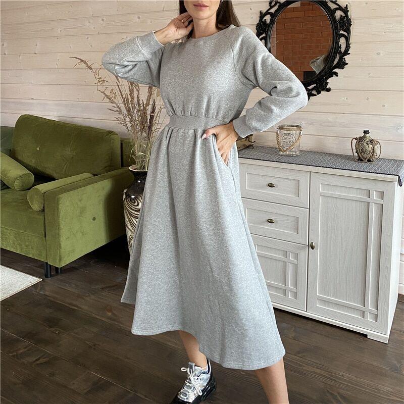 AliExpress Colorfaith – robe longue d'hiver et de printemps pour femme, vêtement épais, taille haute,