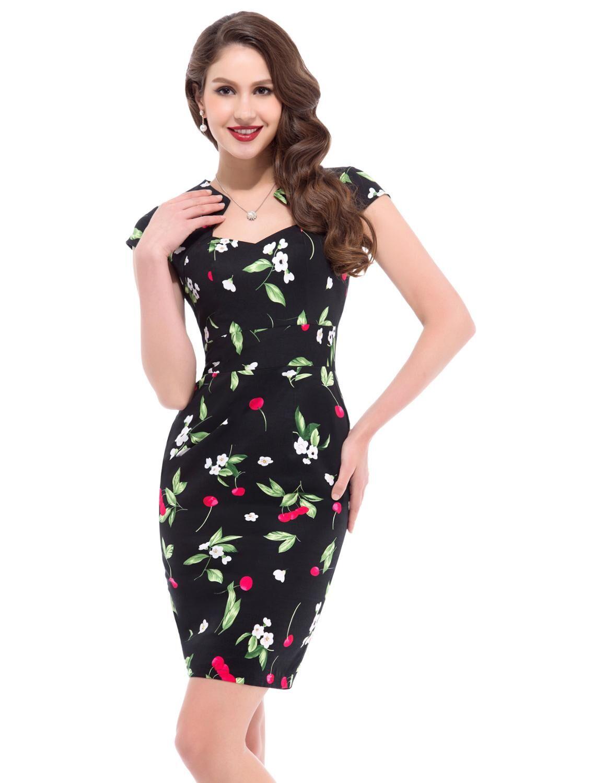 AliExpress Grace Karin – robe crayon à fleurs pour femmes, vêtements Rockabilly, tenue de bureau, de fête,