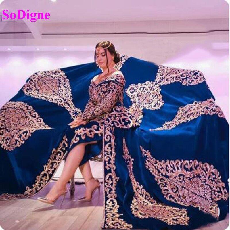 AliExpress SoDigne-robe de soirée, style algérien, Caftan, élégante robe de soirée, style dubaï, avec