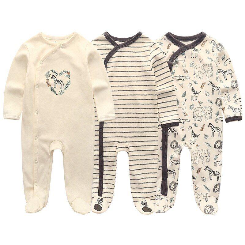 AliExpress Barboteuse en coton pour bébé fille et garçon, combinaison pour nouveau-né, vêtement chaud d'hiver,
