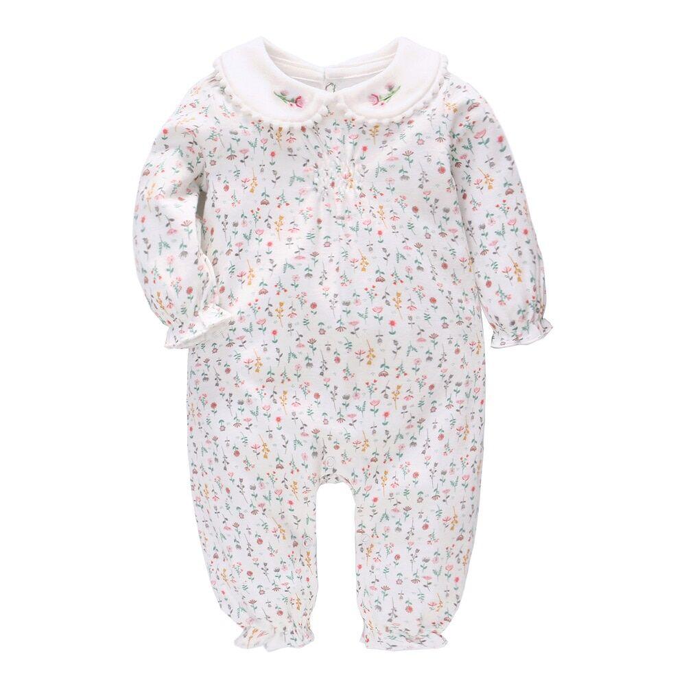 AliExpress Vlinder – barboteuse en pur coton pour bébé fille, 6M ~ 24M, vêtements pour nouveau-né,