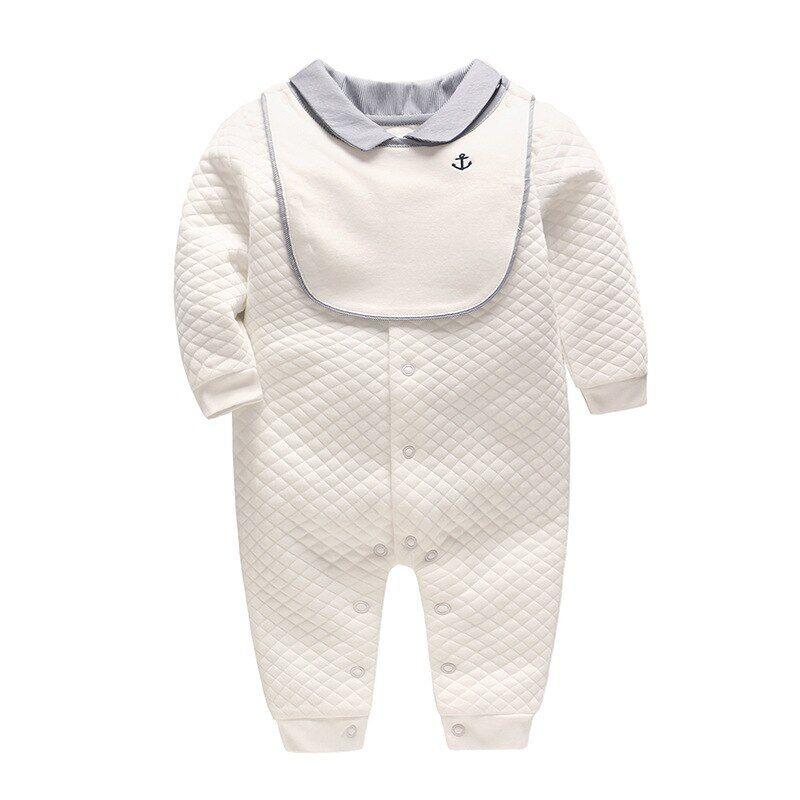 AliExpress Vlinder – Barboteuse en coton pour bébé, manches longues,ensemble de vêtements deux pièces pour