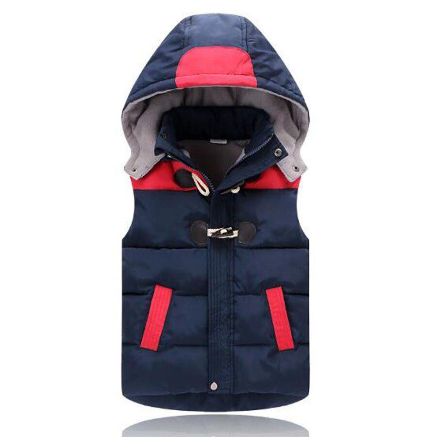 AliExpress Gilet à capuche en coton pour bébé garçon, vêtement d'extérieur épais en coton rembourré pour enfant
