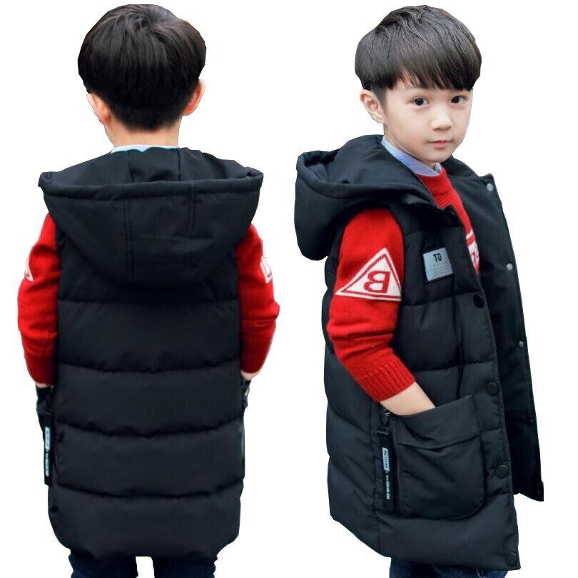 AliExpress Gilet long à capuche en coton pour bébé garçon et fille, veste chaude pour adolescent, tenue de