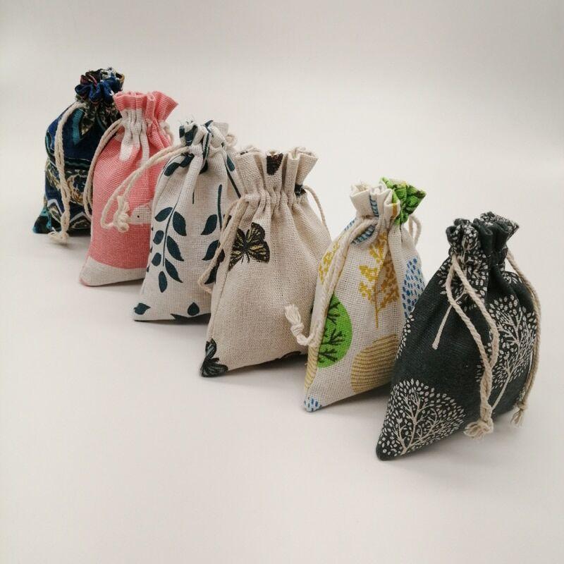AliExpress Sac en toile de Jute 100 pièces, sac en coton, sac en toile de Jute à cordon de serrage, sacs à