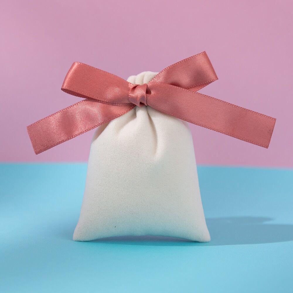 AliExpress Sac en velours avec ruban en flanelle de coton, pochette cadeau pour bijoux, pour mariage, emballage