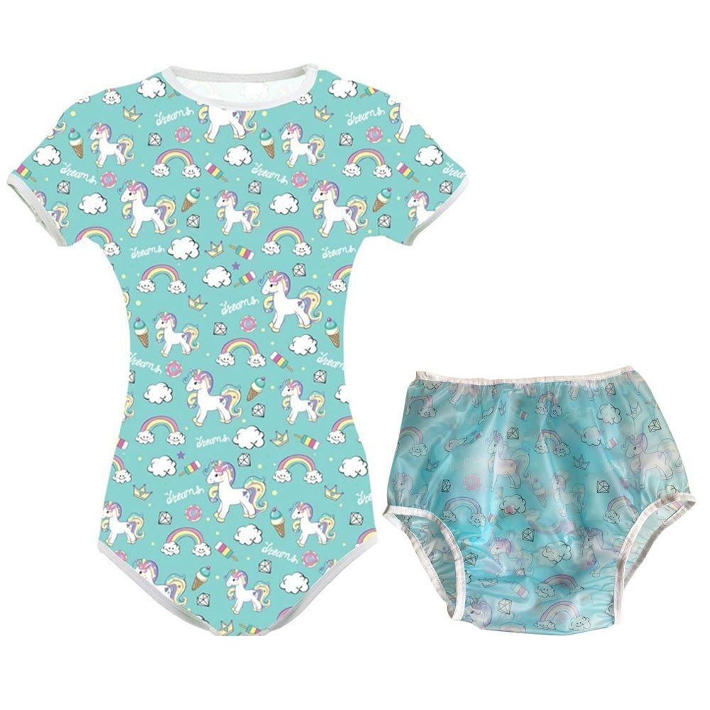 AliExpress ABDL – combinaison pyjama en PVC, couche-culotte, pour adulte et bébé, barboteuse à entrejambe à