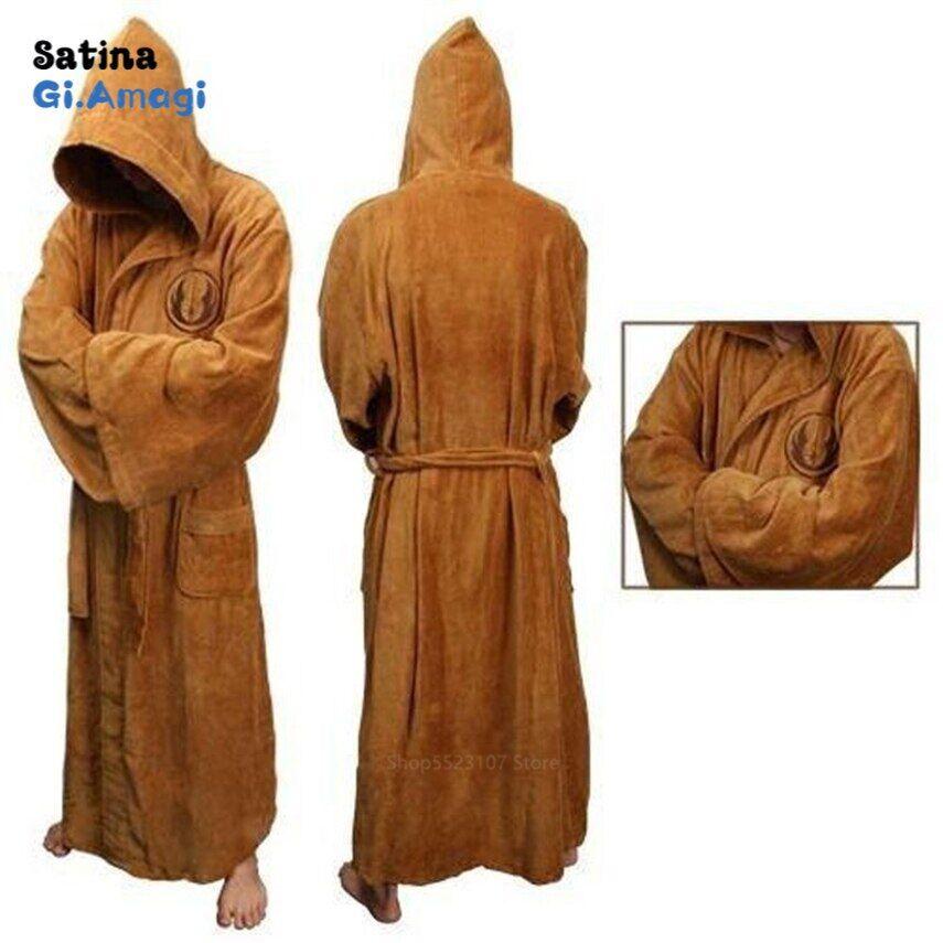 AliExpress Robe de bain en flanelle pour homme, avec capuche épaisse, Star Wars, Robe de chambre jeep Empire,