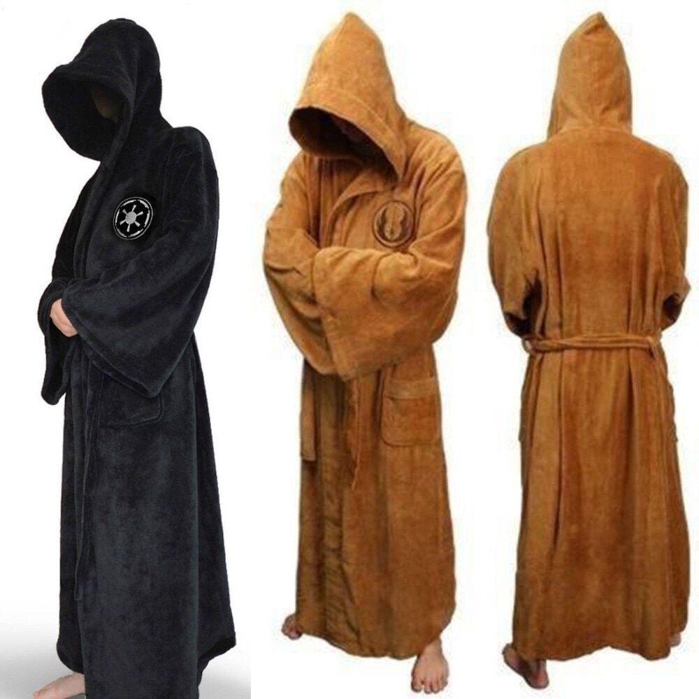 AliExpress Robe de bain en flanelle pour homme, avec capuche épaisse, motif étoile, Robe de chambre, Empire,