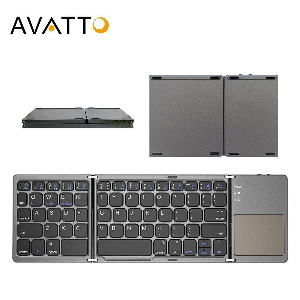 AliExpress AVATTO – Mini clavier pliable sans fil Bluetooth B033, russe/espagnol/arabe, avec pavé tactile, pour
