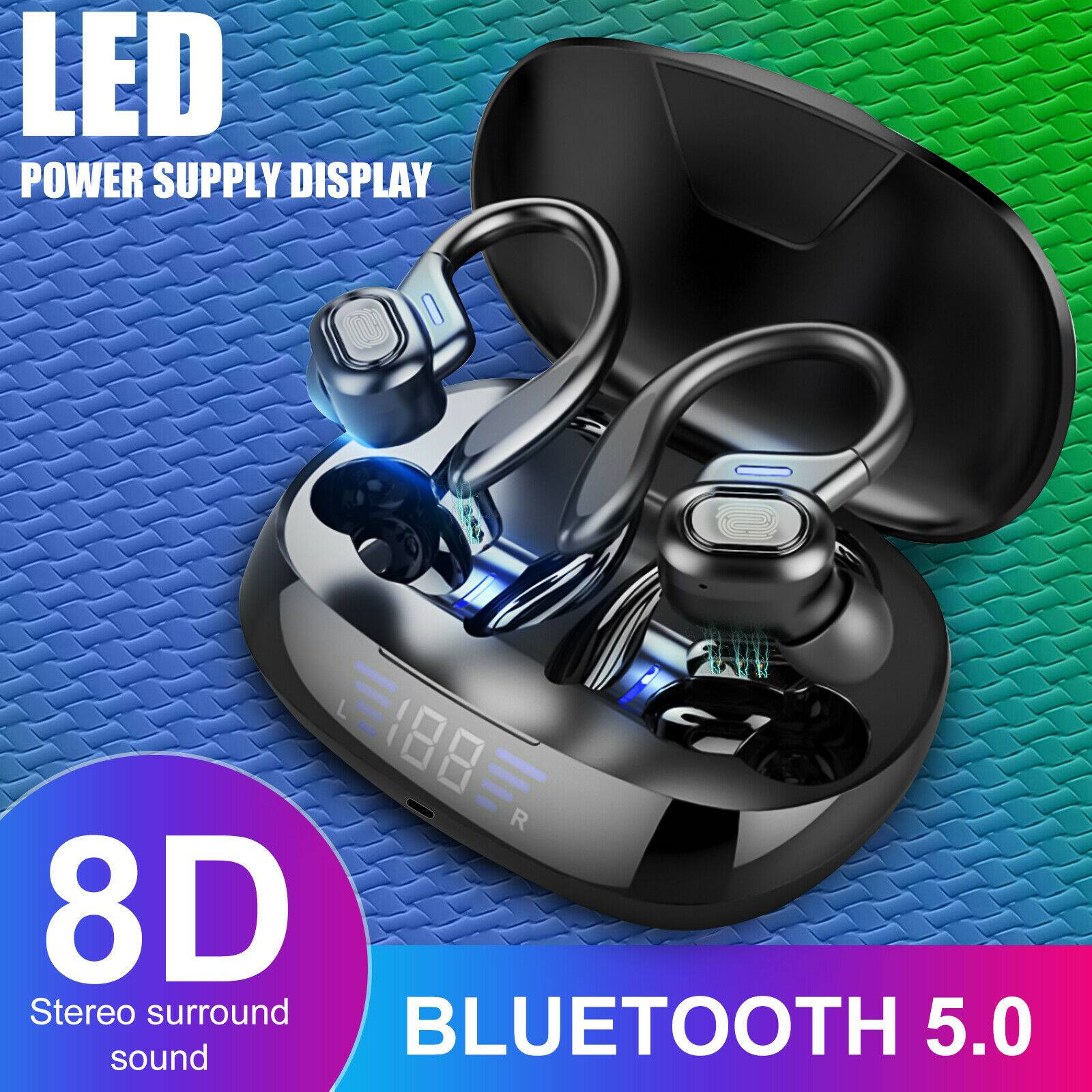 AliExpress Oreillettes sans fil Bluetooth 5.0 TWS, boîte de chargement, écouteurs, son Surround stéréo 8D HD,