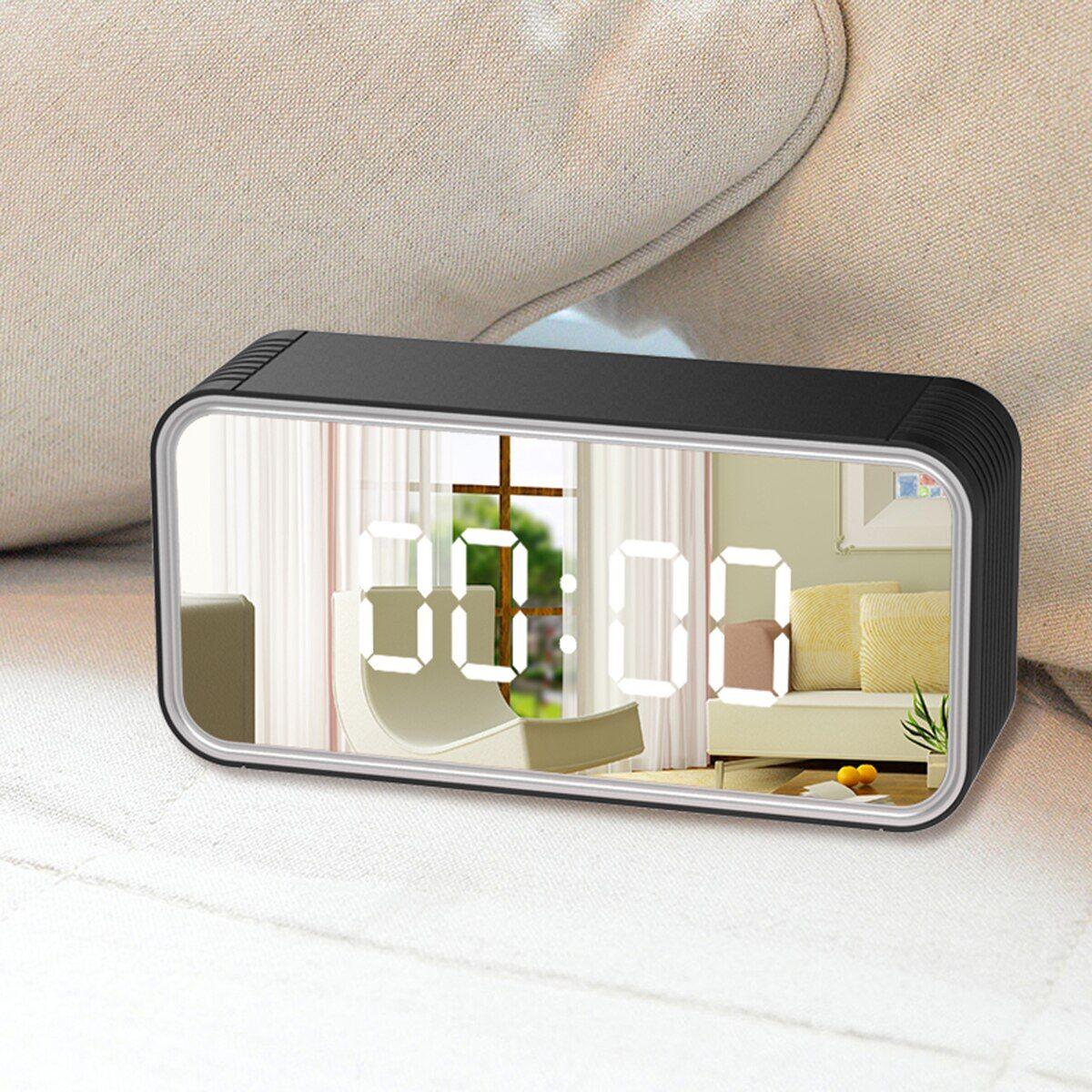 AliExpress Mini caméra sans fil 4K HD WIFI, horloge de sécurité à domicile, réveil, enregistreur avec 8 led IR,