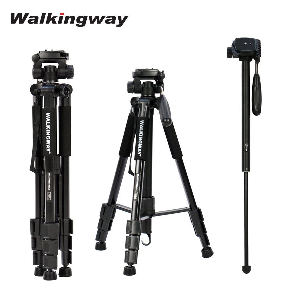 null Walkingway Q222 appareil photo Portable trépied support en aluminium Tripode de voyage monopode pour