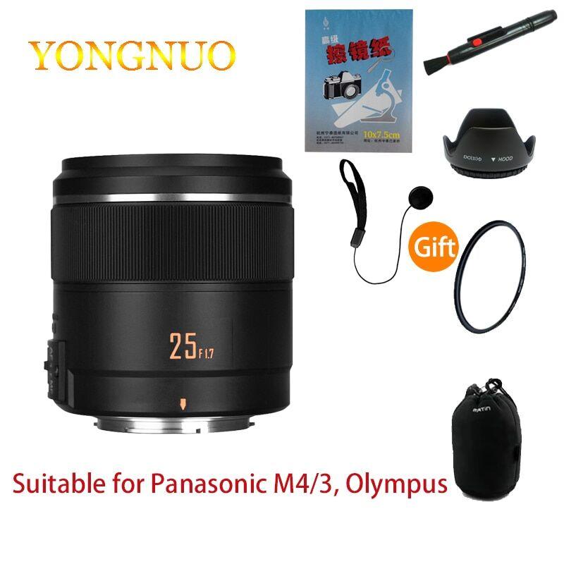 AliExpress Yongnuo – objectif de caméra 25mm F1.7 STM Panasonic Olympus M4/3 ports, micro simple grande