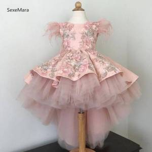 AliExpress Robes de Communion en dentelle pour filles, tenue de concours, vêtements pour enfants, pour - Publicité