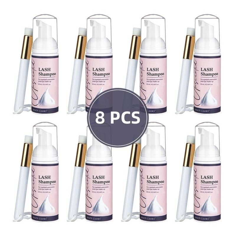 AliExpress Kit de shampoing pour extensions de cils de 60ml, 8 pièces, avec brosse à Mousse, Mousse de