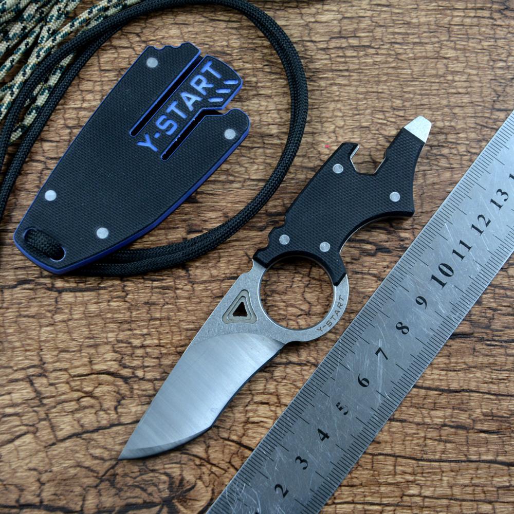 AliExpress Couteau utilitaire multifonctionnel MK5002, pour Camping en plein air, chasse, EDC, lame fixe D2