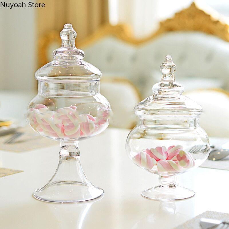 AliExpress Bocal en verre multifonction, rangement de bonbons, artisanat, boîte de rangement domestique, salon,