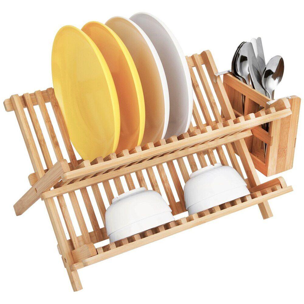 AliExpress Porte-assiettes en bois, égouttoir à vaisselle de cuisine, support de couvercle de Pot, étagère de