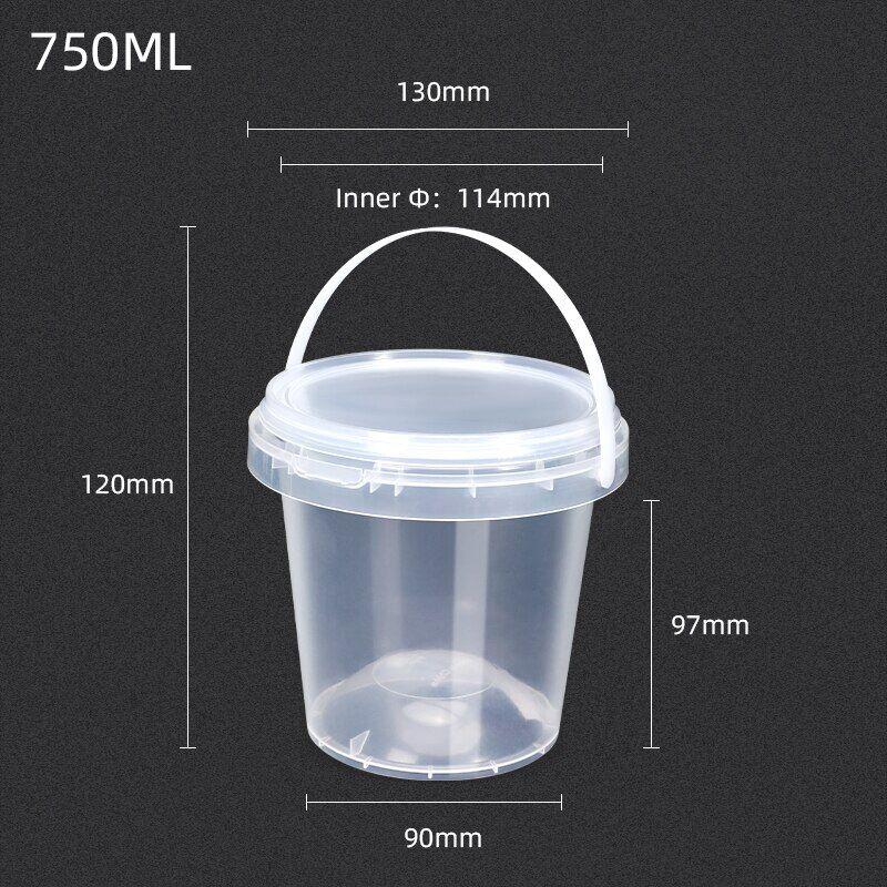 AliExpress Boîte alimentaire ronde vide en plastique de 750ML avec couvercle, sans BPA, qualité alimentaire