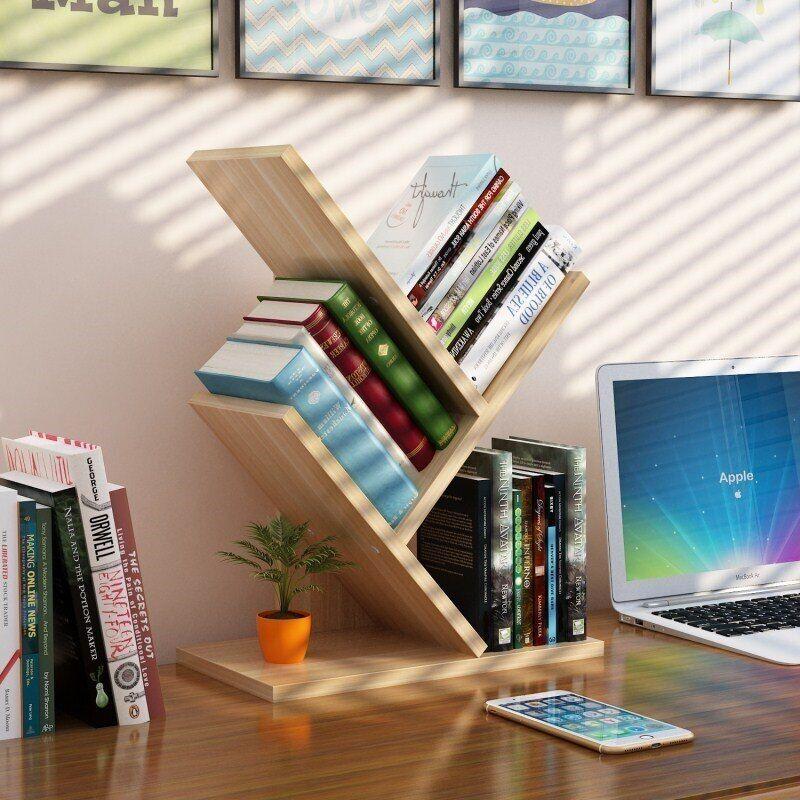 AliExpress Bibliothèque à 3 niveaux en forme d'arbre, étagère Simple pour pépinière, livres de bureau et