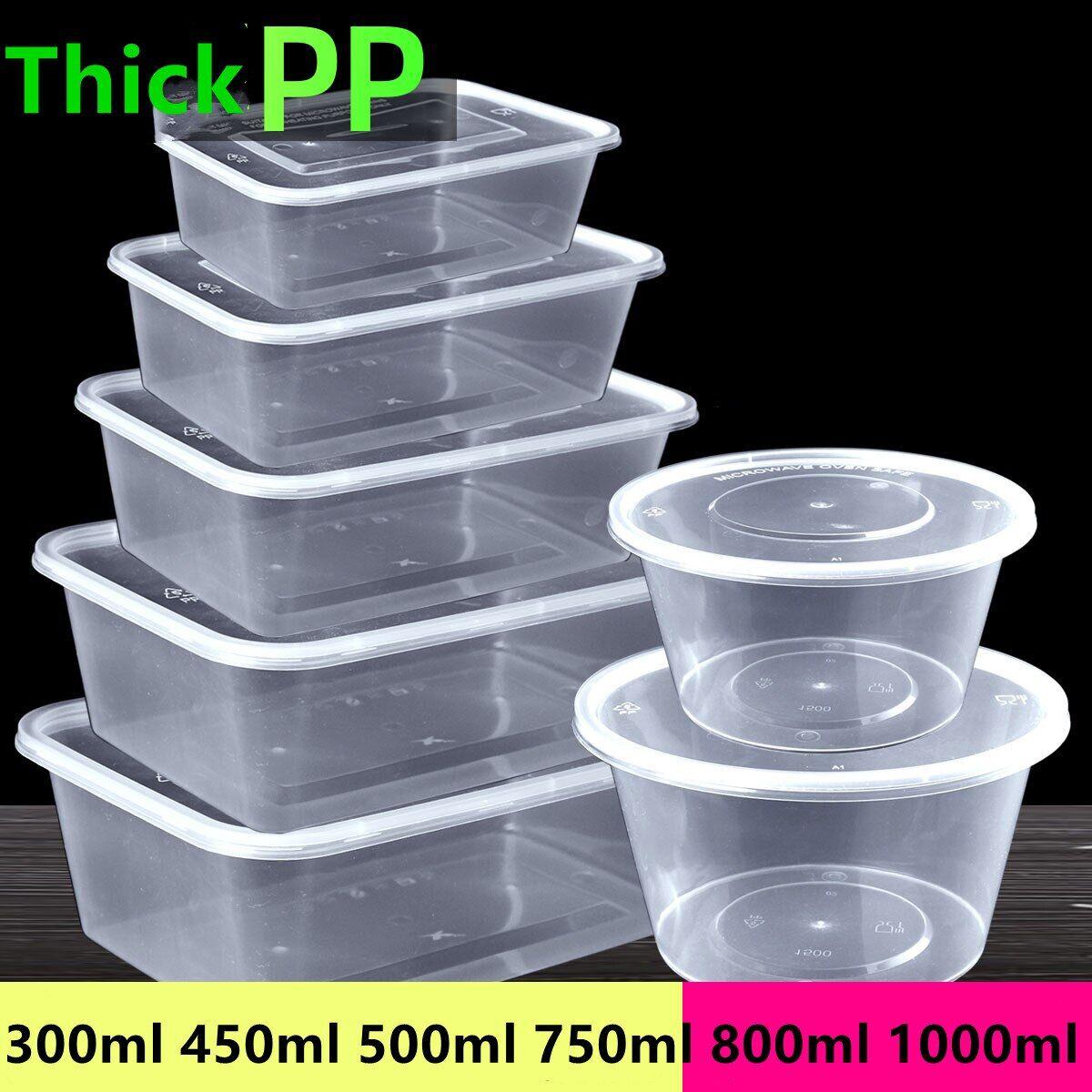 AliExpress Emballage alimentaire bol noir Transparent avec couvercle épais, boîte à déjeuner ronde et carrée