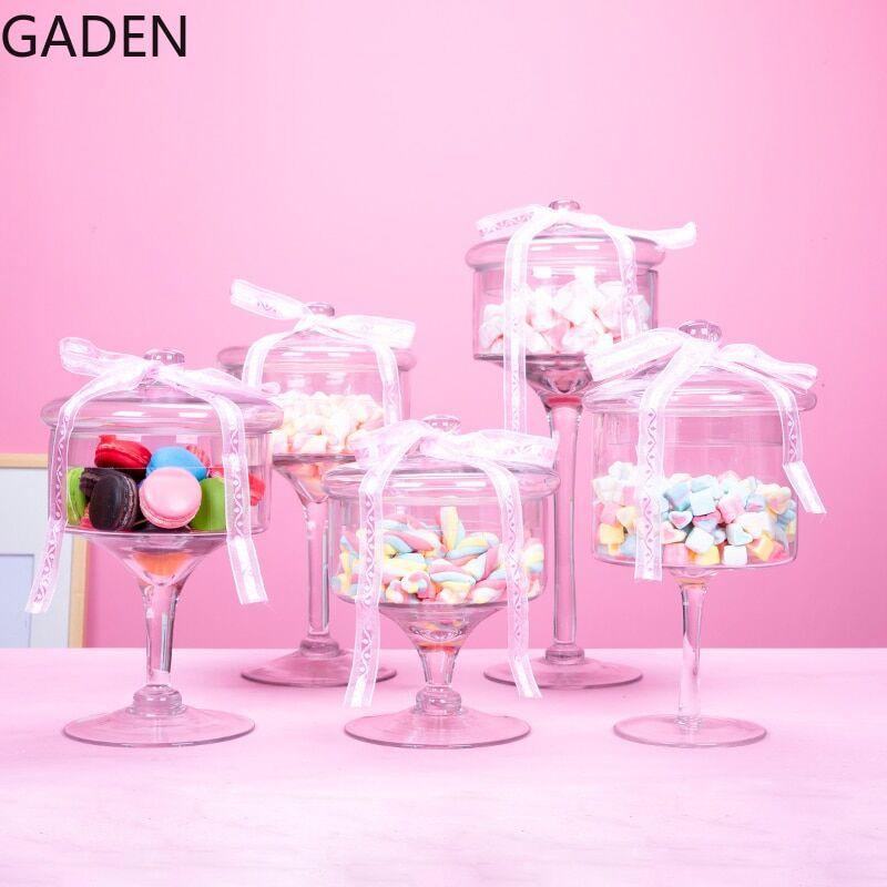 AliExpress Bocal à bonbons en verre avec couvercle, boîte à bonbons en cristal, boîte à bonbons de mariage,