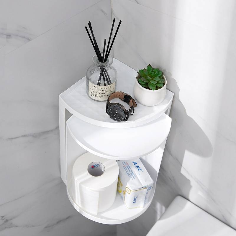 AliExpress tagère murale de rangement rotative à 360 degrés, organisateur pour shampoing et produits