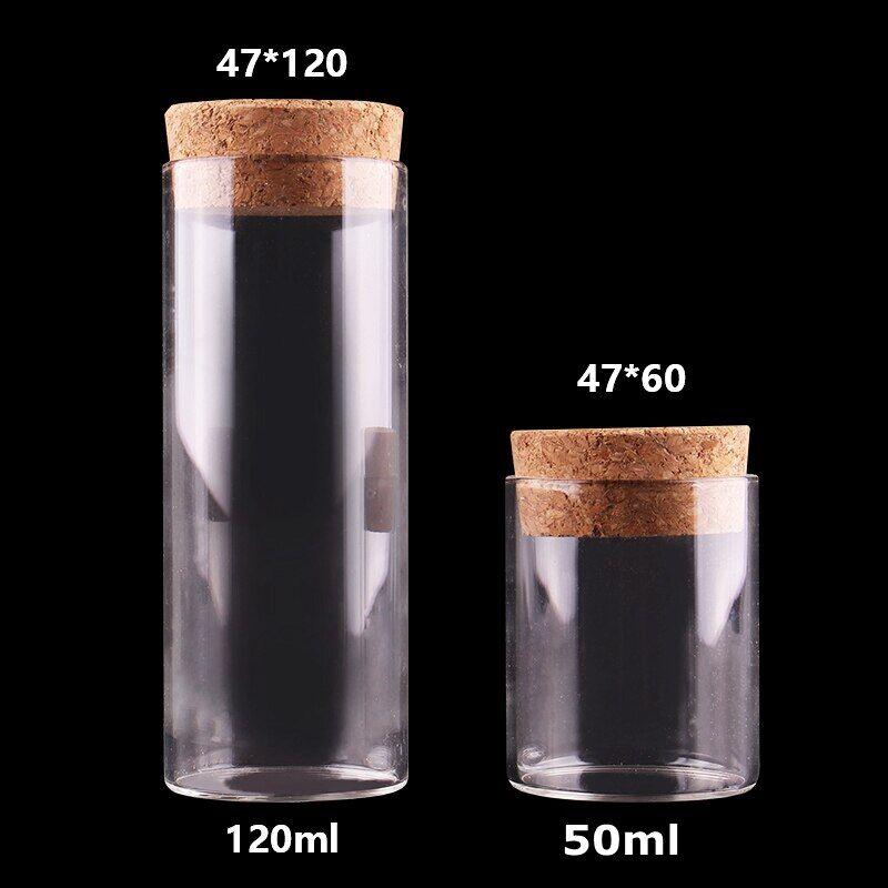 AliExpress Tubes à essai en verre avec bouchon en liège, 10 pièces de 50ml et 120ml, bocaux, récipients,