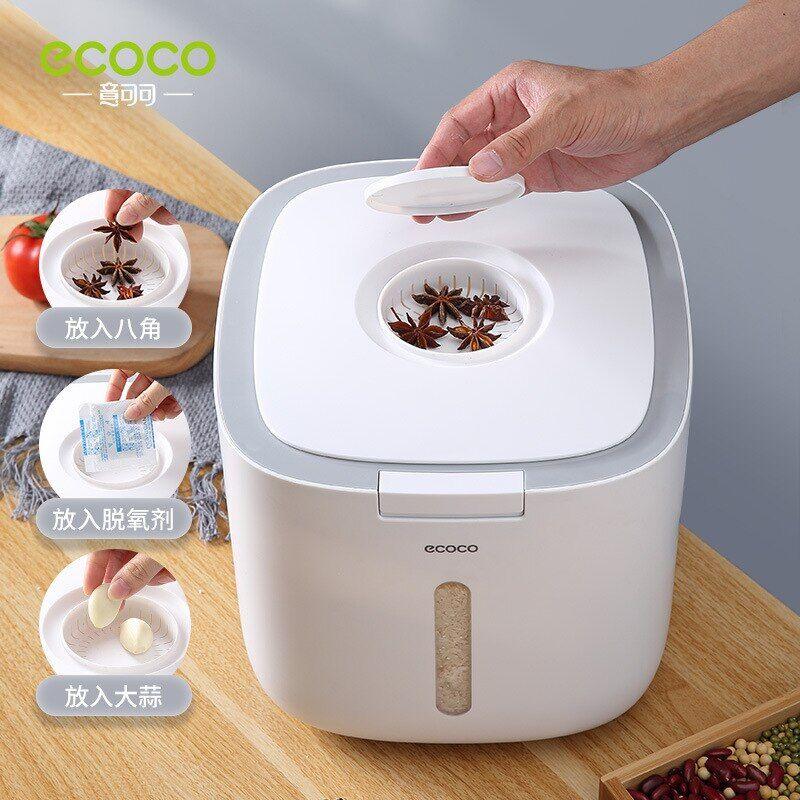 AliExpress ECOCO – seau Nano de cuisine 5/10KG, étanche aux insectes et à l'humidité, cylindre de riz scellé,