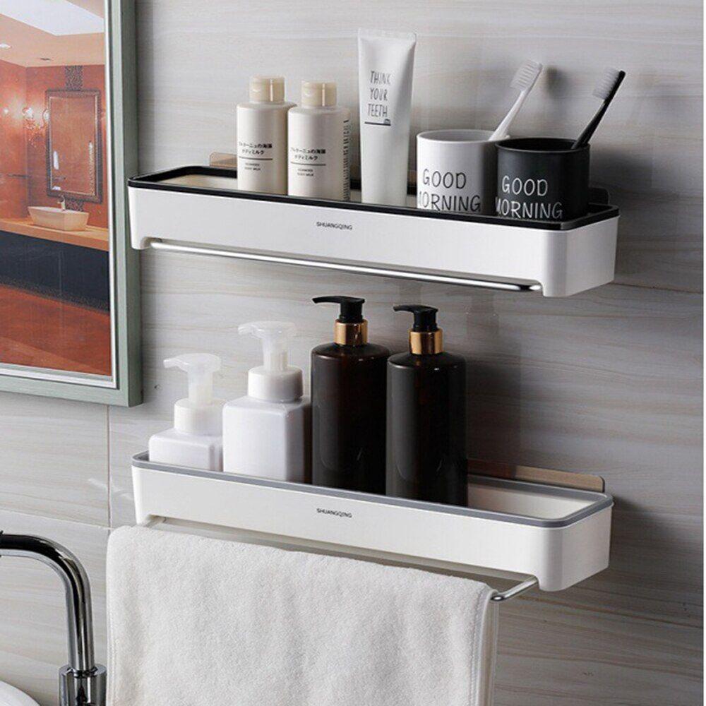 AliExpress tagère murale de salle de bain, étagère de rangement pour shampoing, avec barre à serviettes,