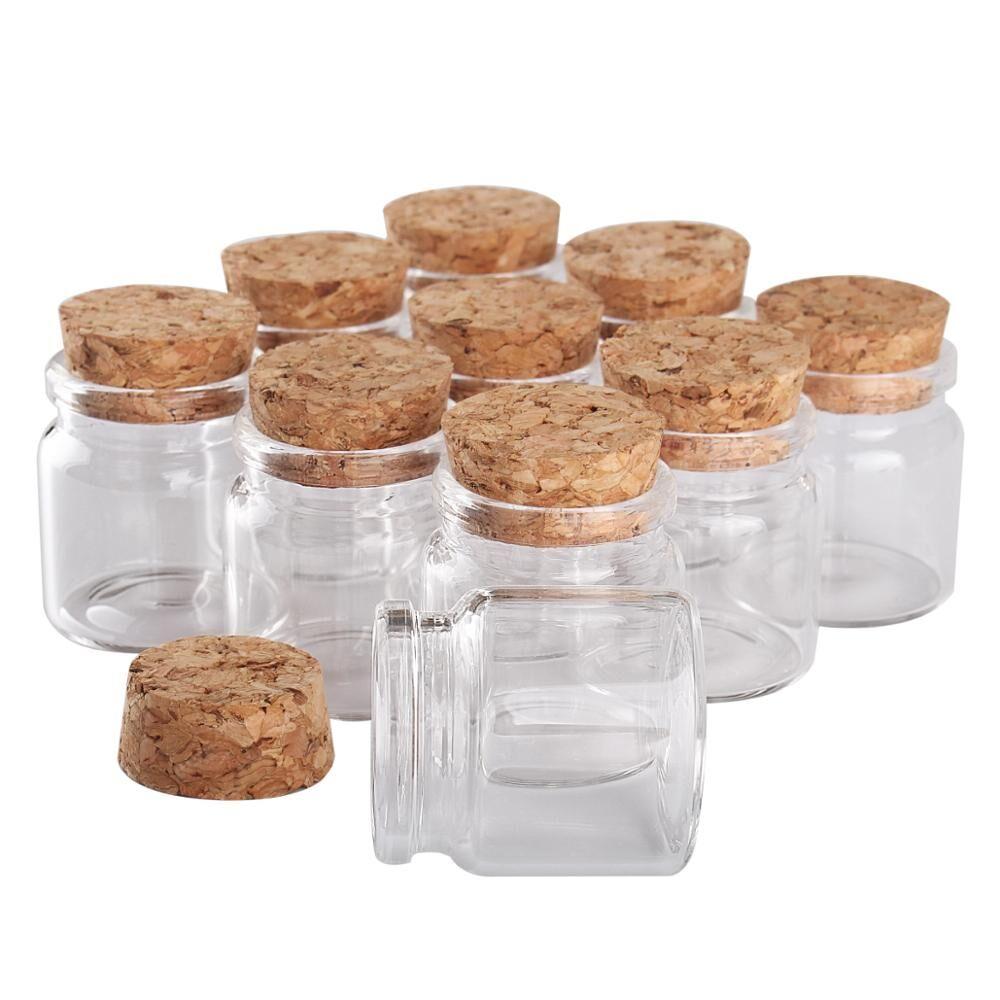 AliExpress Mini bouteilles de vœux en verre, 24 pièces de 37x40x27mm, 20ml, petits bocaux avec bouchon en