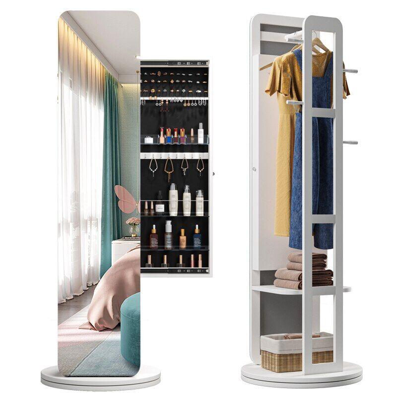 AliExpress Armoire de rangement à miroir pour produits cosmétiques, meuble de salon, porte-manteau