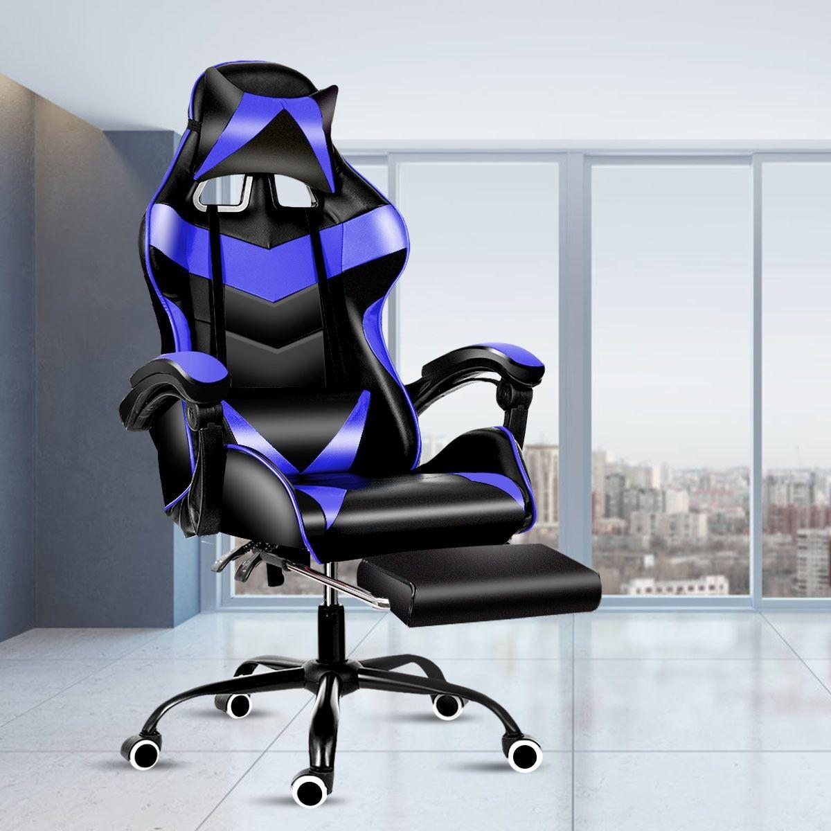 AliExpress Chaise de bureau de jeu en cuir, chaise de course de café d'internet à domicile, chaise d'ordinateur