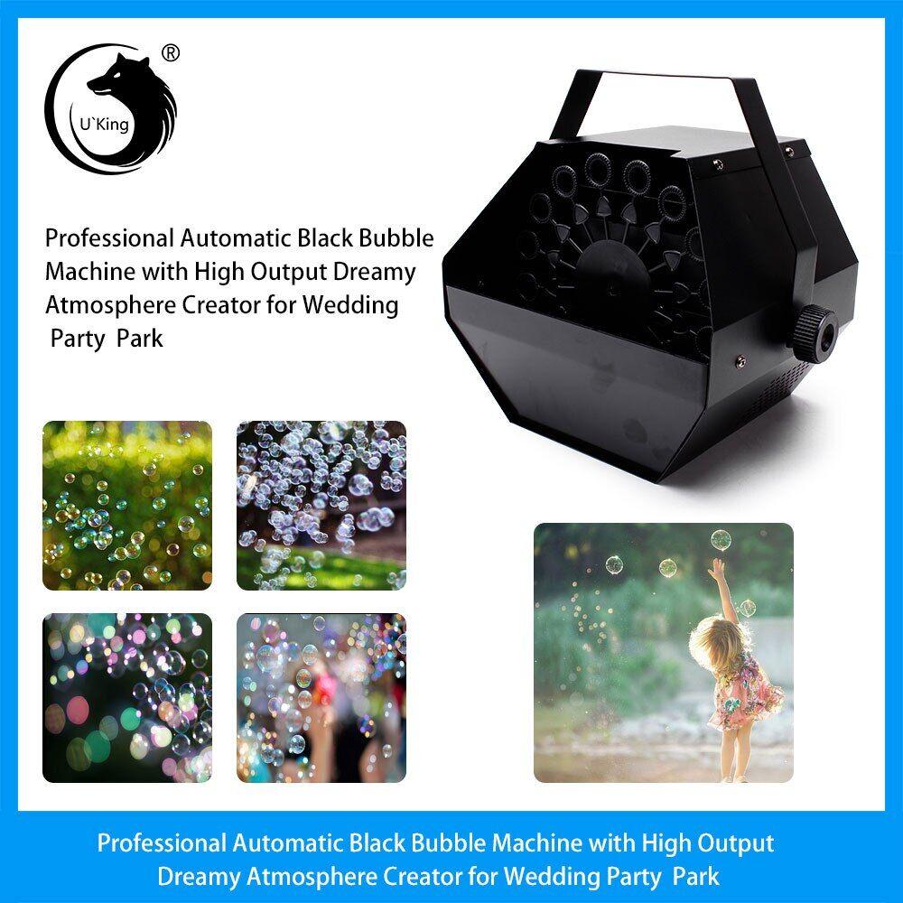 AliExpress U'King – Machine à bulles noires automatique professionnelle, créateur d'atmosphère de rêve à haut