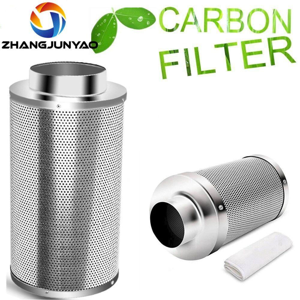 AliExpress Filtre à charbon actif en acier inoxydable, 4/5/6/8 pouces, pour plantation hydroponique intérieure,