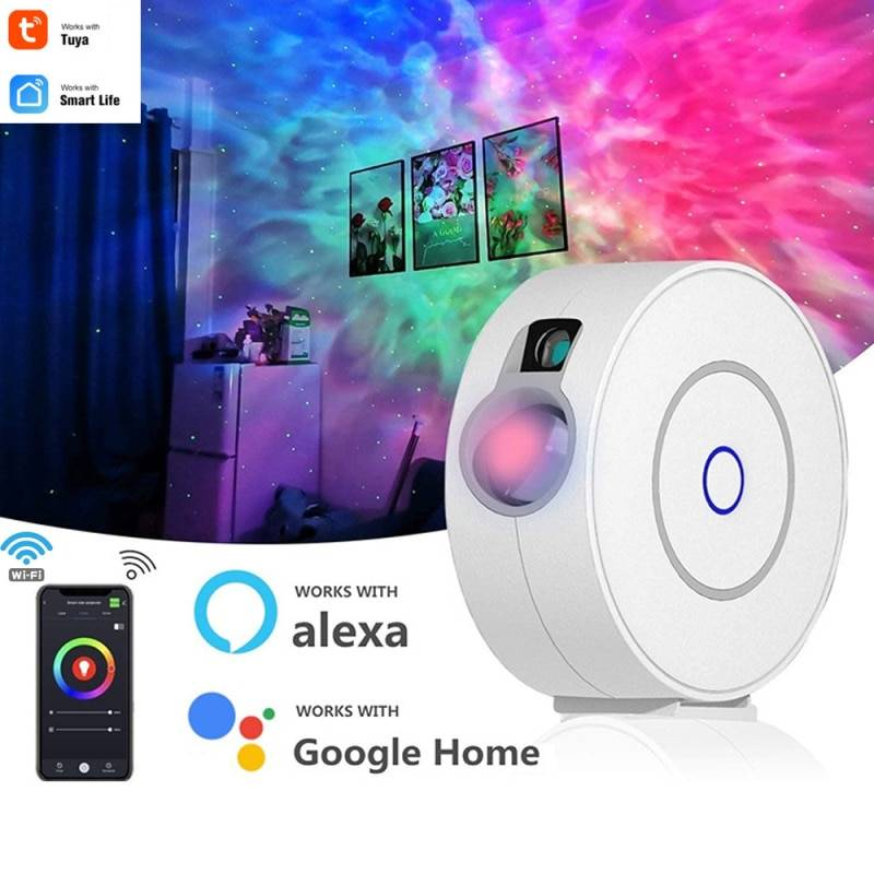 AliExpress Projecteur étoilé coloré LED USB Tuya/Smart Life, fonctionne avec Alexa Google Home, veilleuse
