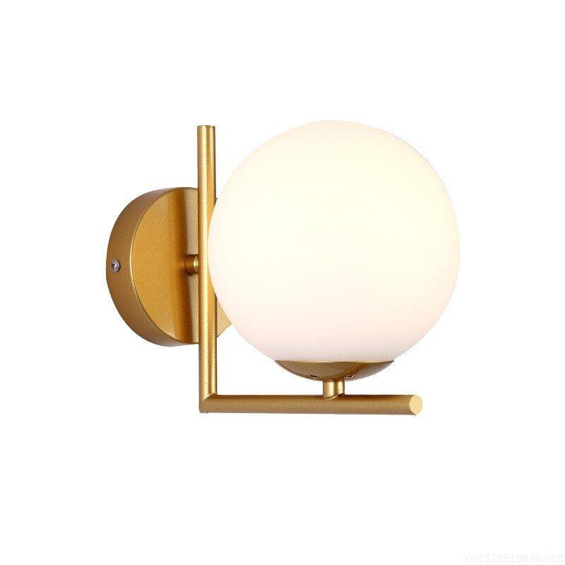 AliExpress Lampe murale nordique moderne à Led, boule de verre, pour chambre à coucher, couloir, salle de bain,