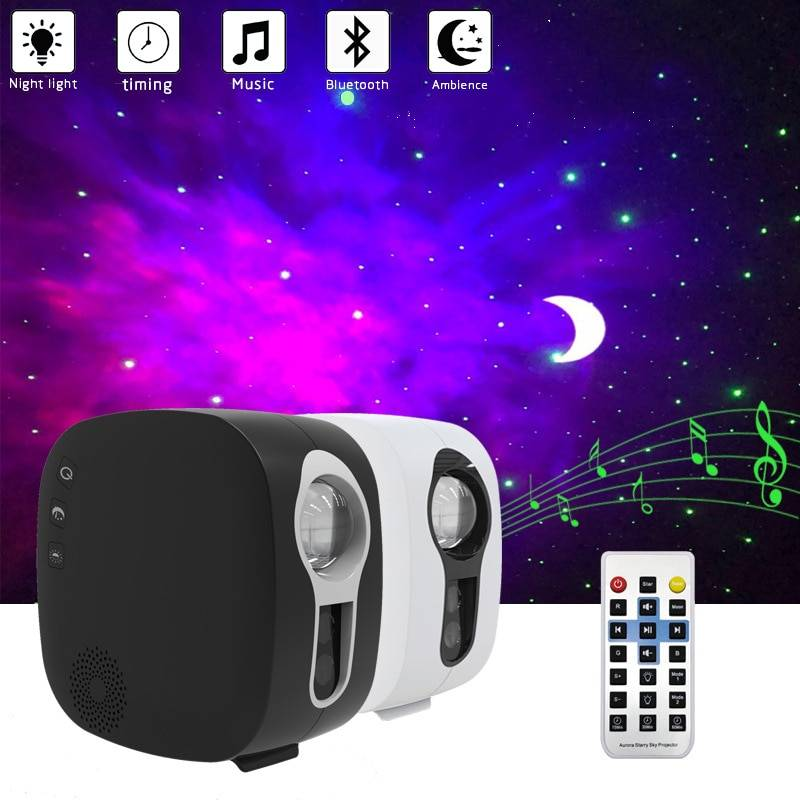 AliExpress Projecteur de ciel étoilé Bluetooth, lampe de nuit, Galax Nebula, commande par haut-parleur de