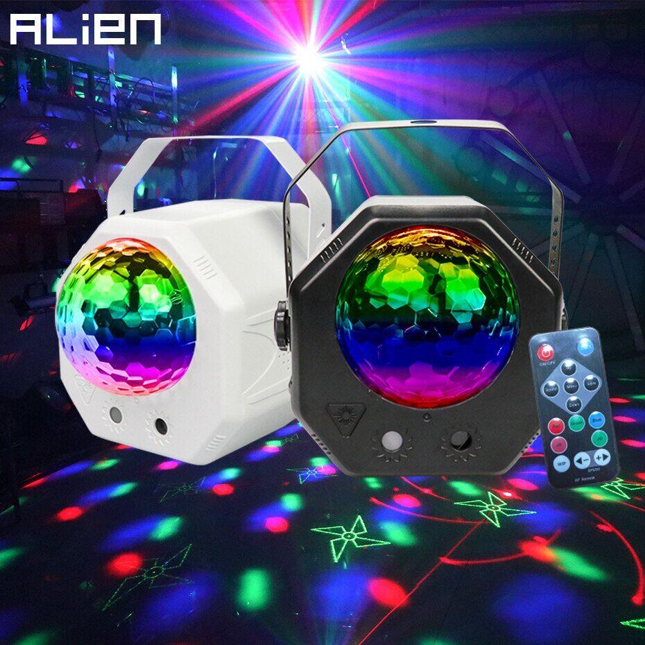 AliExpress ALIEN – boule magique ondulée RGB pour DJ, lumières de fête, motifs étoiles, projecteur Laser, effet